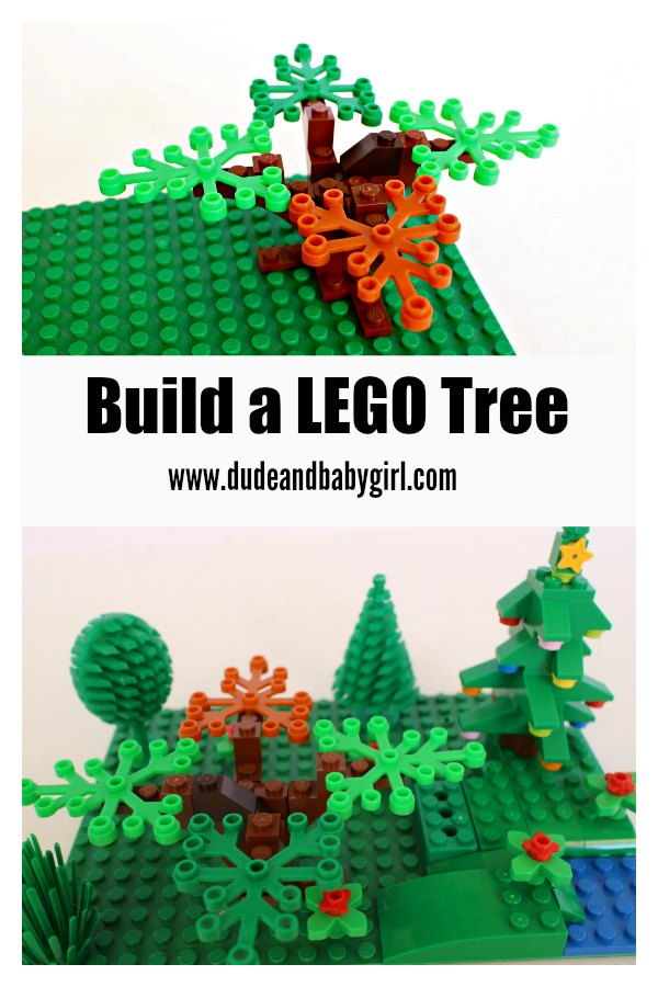 Dude Baby Girl Make A Lego Tree