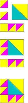 how to make a simple triangle quilt pattern