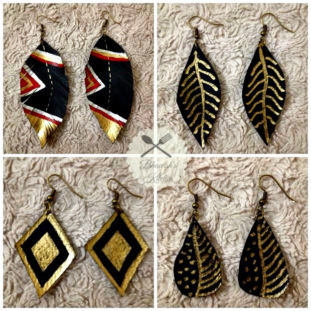 Fancy Leather (Feather) Earring