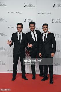 ... Ignazio Boschetto and Gianluca Ginoble) attend the Milano Gala Dinner  benefitting the Novak Djokovic Foundation presented by Giorgio Armani at  Castello ... 4128890e433