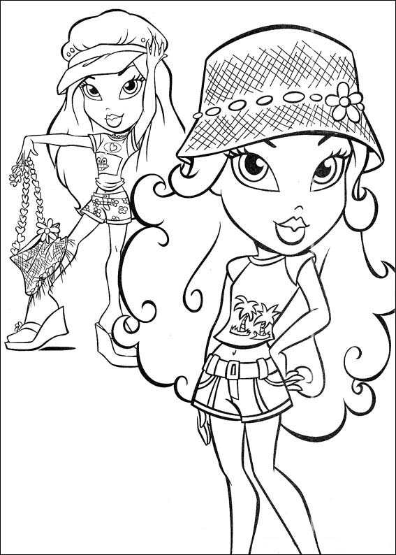 bratz free printable coloring pages - photo#10