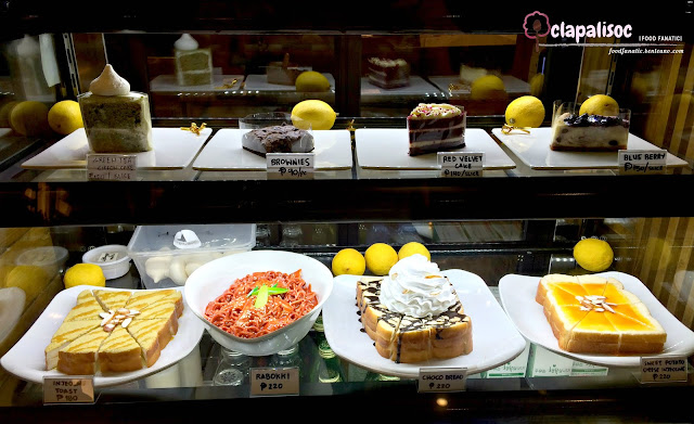 Food offerings from Hobing Korean Dessert Cafe