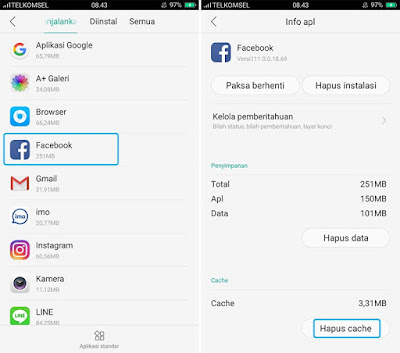 Menghapus Cache di HP Android