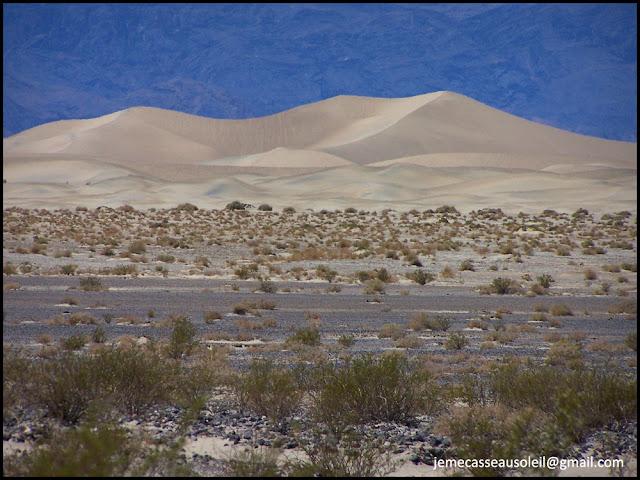 Dunes à Death Valley