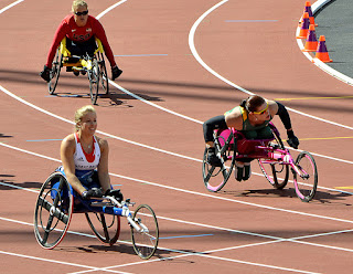 Paraolympic wheelchair racing