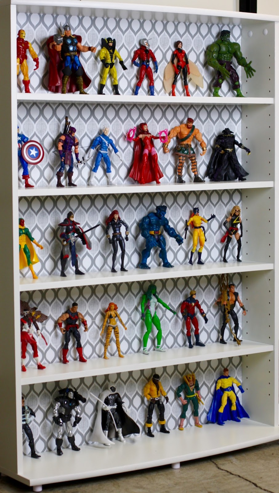 Geek diy bam marvel legends avengers action figure display multimedia storage tower from last weeks blog entry a whole bunch of marvel legends avengers action figures diy solutioingenieria Images