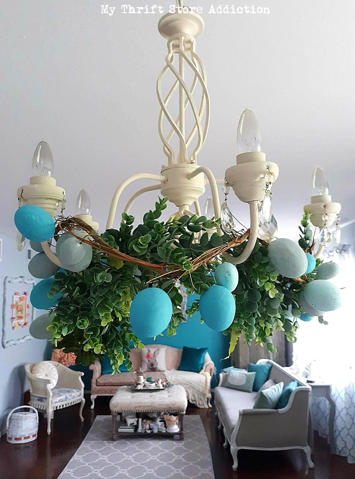 Vintage Easter tablescape
