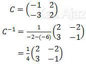 Menentukan invers matriks C
