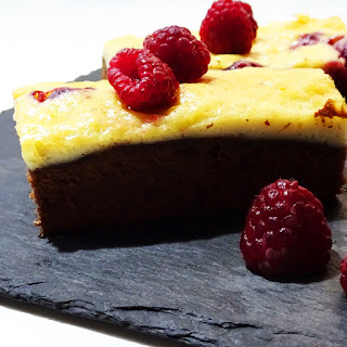 Brownie Cheesecake de Frambuesas