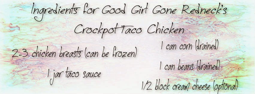 list of ingredients, taco chicken