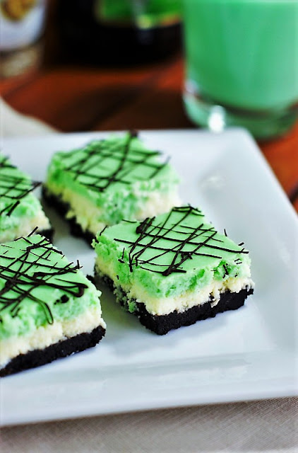 Grasshopper Cheesecake Squares photo