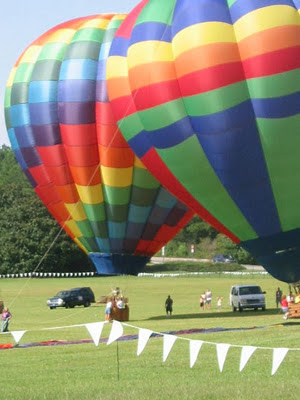 hot air balloons at callaway gardens georgia USA photo by Jillian Crider artist photographer 2003