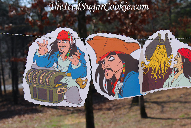Pirates Of The Caribbean-Dead Men Tell No Tales-Birthday Party Banner Flag Bunting Garland DIY Idea