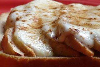 хлеб с яблоками горячие бутерброды