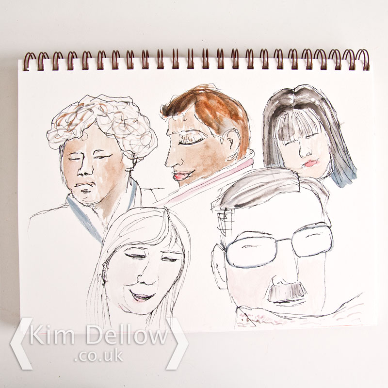 A study of faces on a train