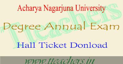 ANU degree hall tickets download 2017 nagarjuna university ug hall ticket