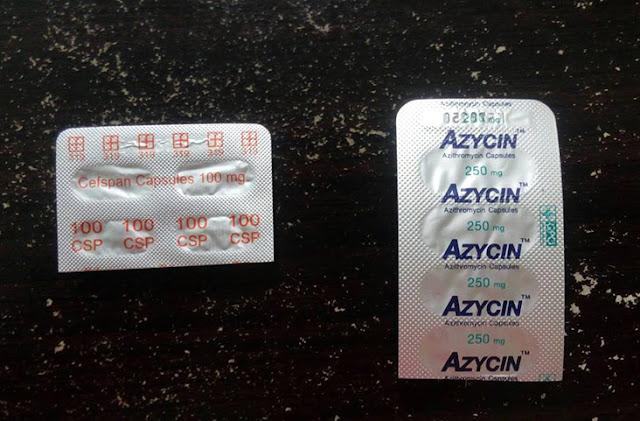 ยา Azycin 250 mg กับ ยา Cefspan 100 mg