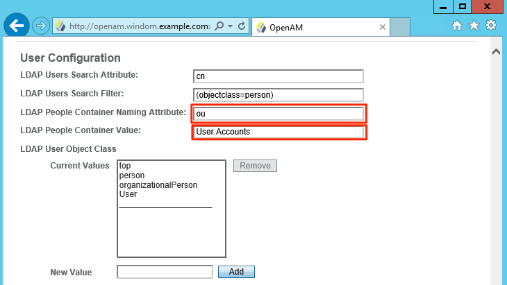 Setting up an Active Directory DataStore in OpenAM