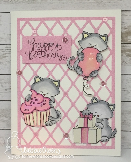 Happy Birthday by Debbie features Newton Loves Cake and Newton's Birthday Bash by Newton's Nook Designs; #newtonsnook