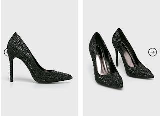 Pantofi cu toc Moow negri eleganti ieftini online