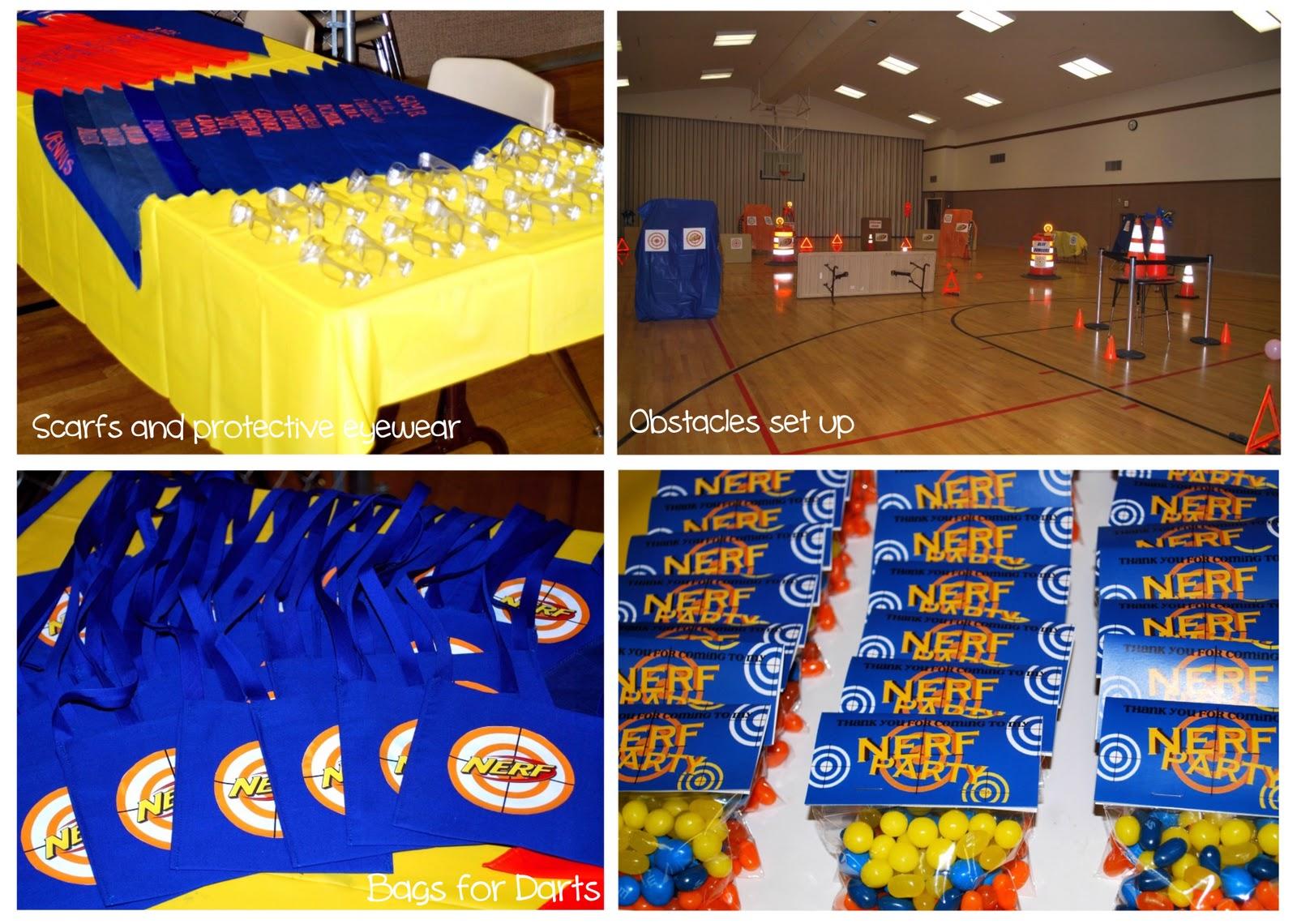 Nerf Gun Party Decorations