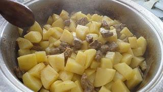 Dana Etli Patates Yemegi adim adim