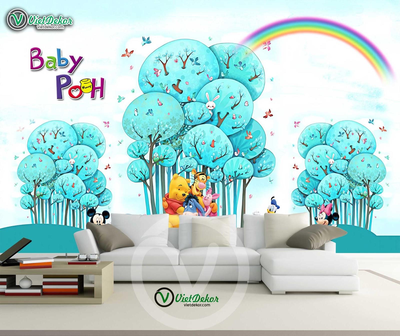 Tranh dán tường phòng ngủ cho trẻ em đẹp