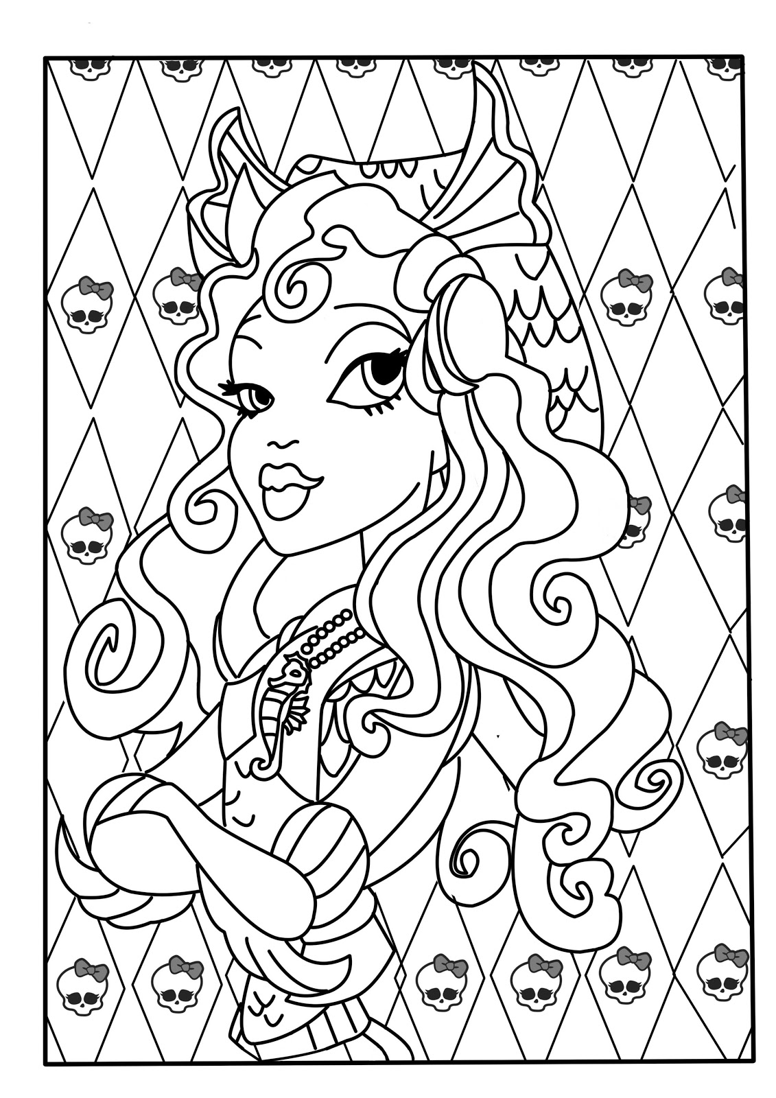 lagoon coloring pages | kolorowanki : Lagoona Monster High
