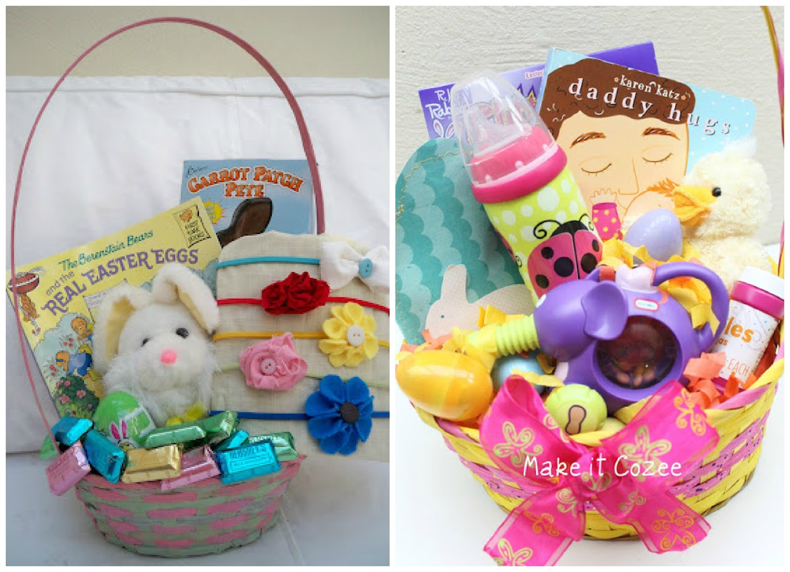 Make it cozee toddler easter basket negle
