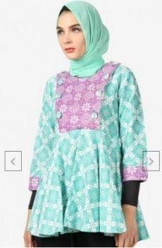 model atasan batik wanita muslimah