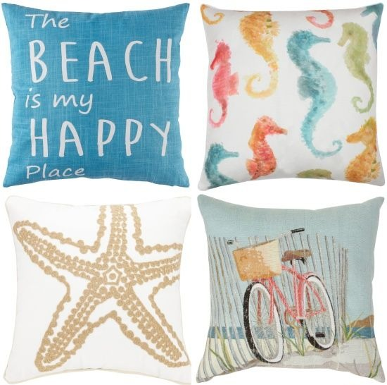 Coastal Beach Theme Pillows