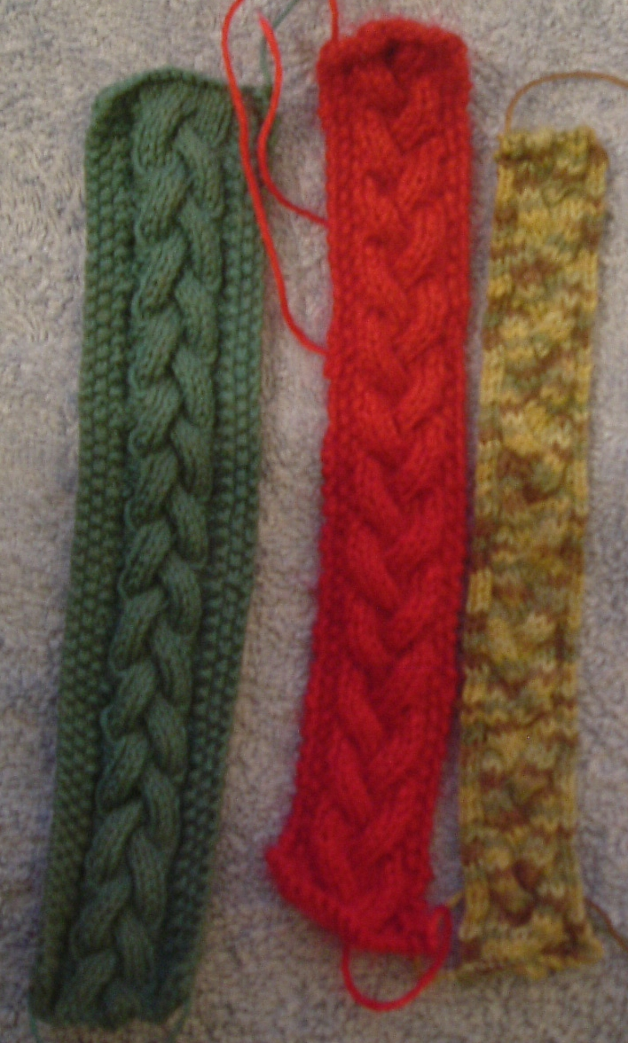 Stitch In Time Simple Plait Cable Knitted Bookmarks