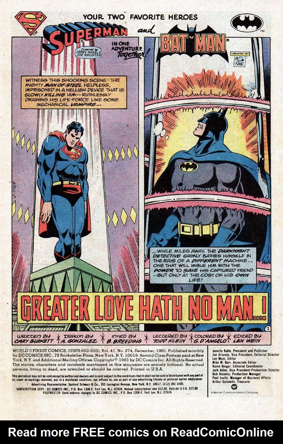 Read online World's Finest Comics comic -  Issue #274 - 3