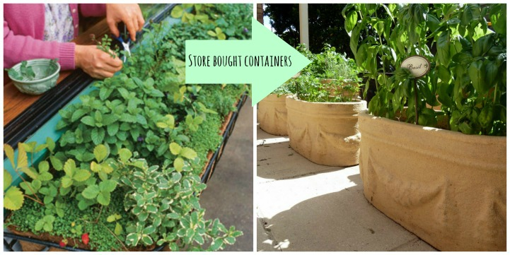 Herb garden containers