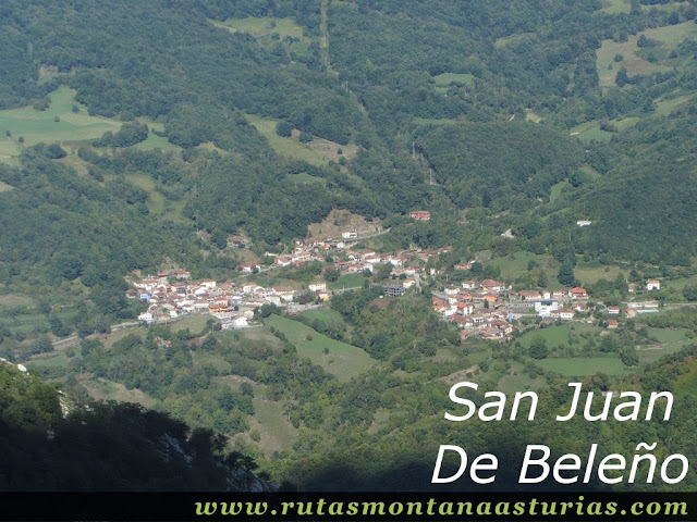 Ruta circular de Taranes al Tiatordos: Vista de San Juan De Beleño