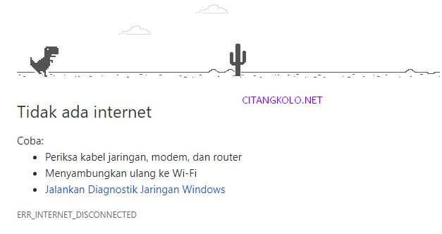 Terungkap ! Ketika Internet Ofline Muncul Game Dinosaurus, Kenapa Bukan Game Lainnya?