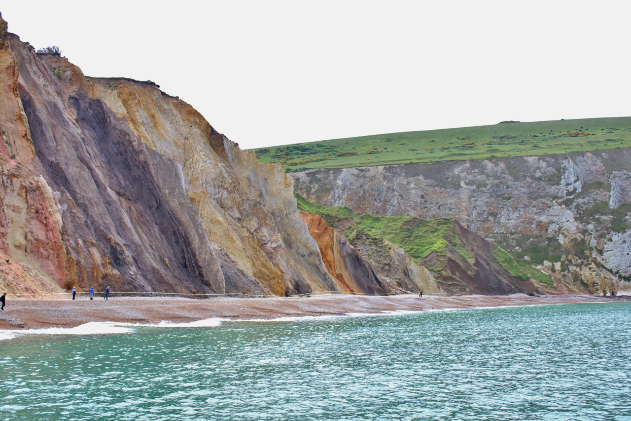 Coloured rocks at Alum Bay