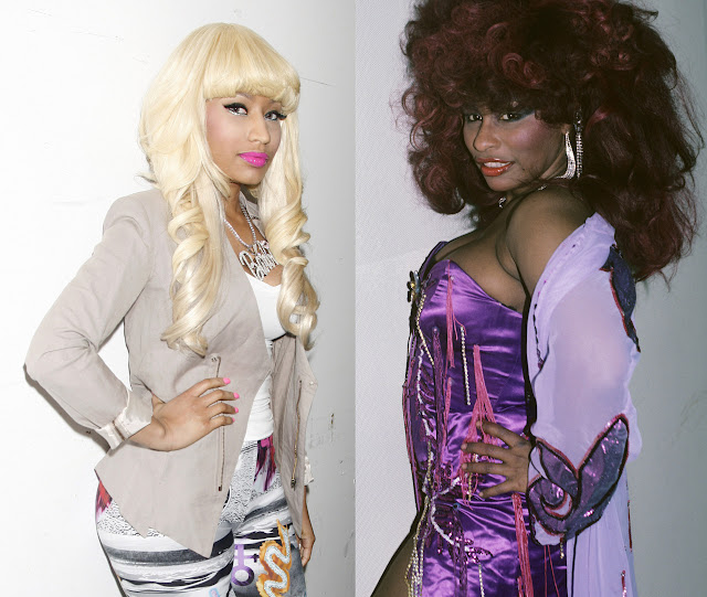 Nicki Minaj looks like Chaka Khan