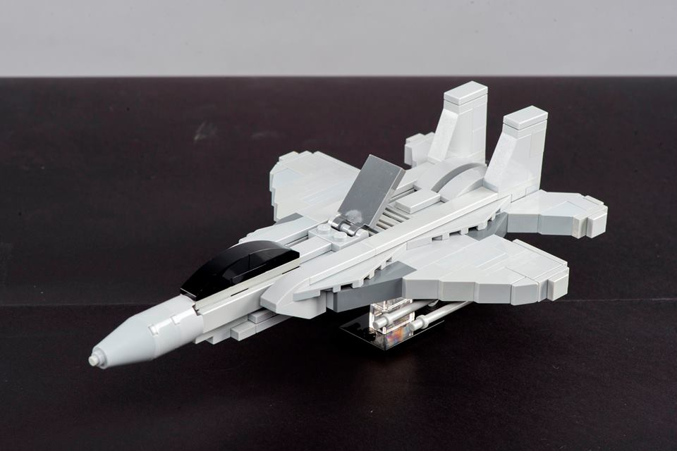 The Lego version of the Republic of Singapore Air Force's F-15SG posed a real challenge to Mr Jeffrey Kong because he wanted to make sure the model aircraft came out perfect.