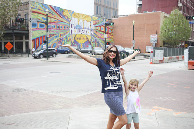 Amy West and daughter explore Houston