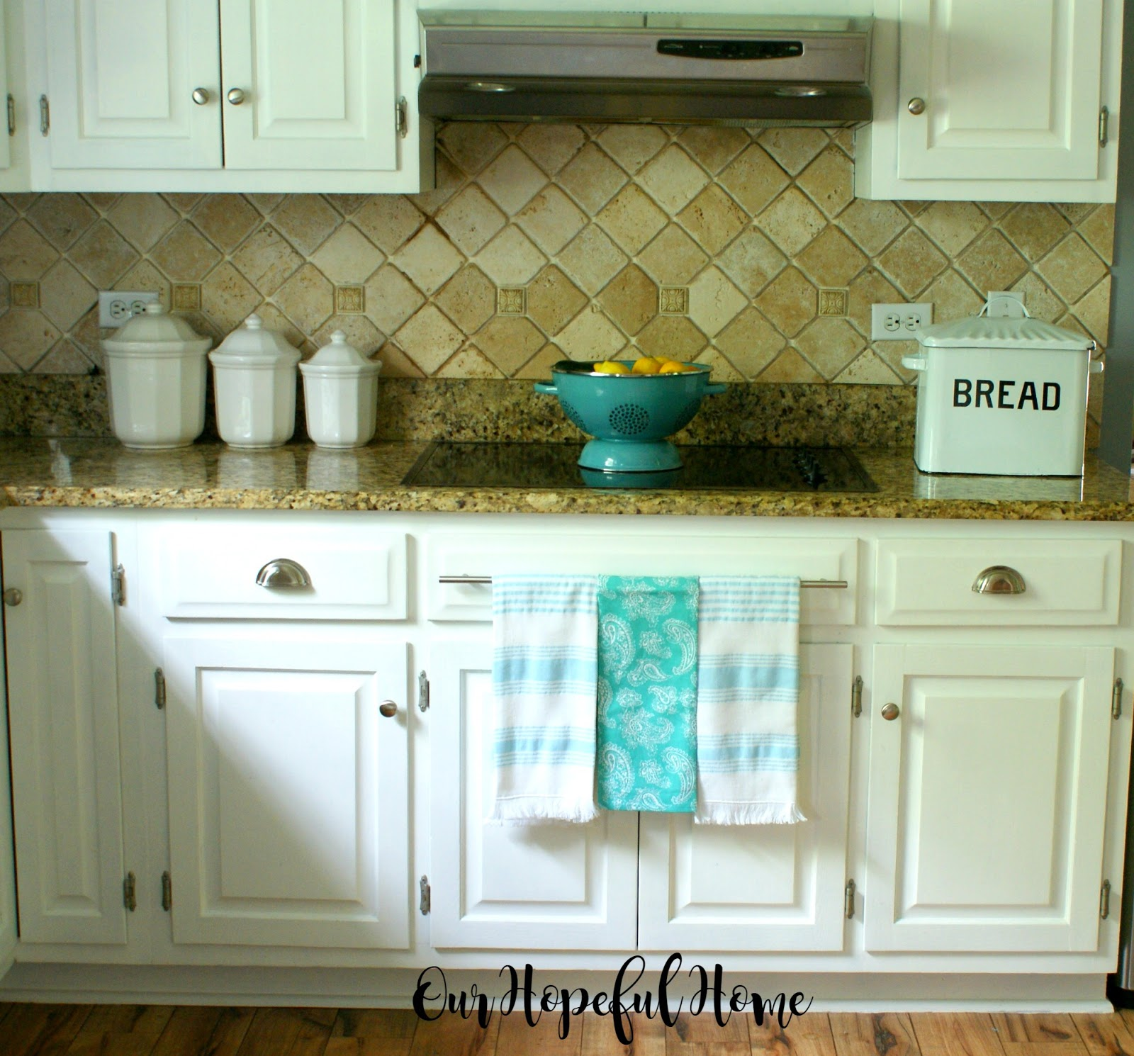 our hopeful home: how to install farmhouse kitchen towel bars