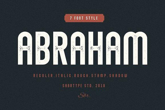 Abraham Font Family