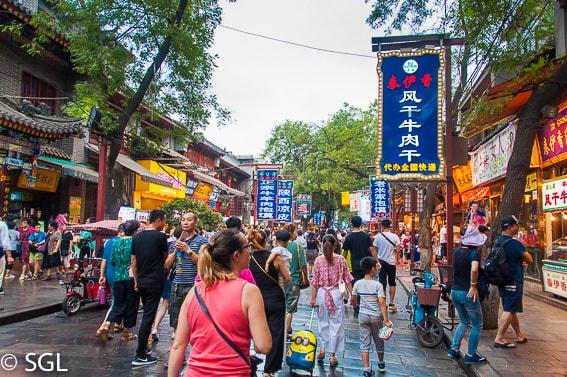Barrio musulman en Xian, la ultima ciudad de la ruta de la seda