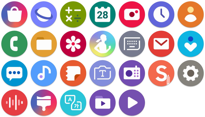 Samsung Adaptive Icon Pack   AdaptiveIconsShowcase