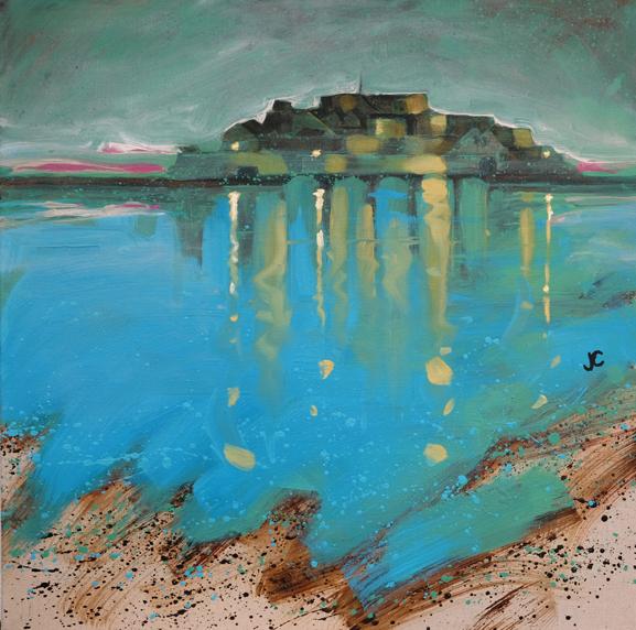 Castle Cornet Guernsey painting