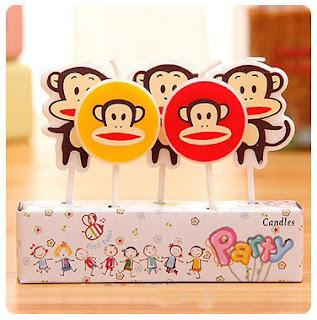 nến trang trí sinh nhật hình chú khỉ
