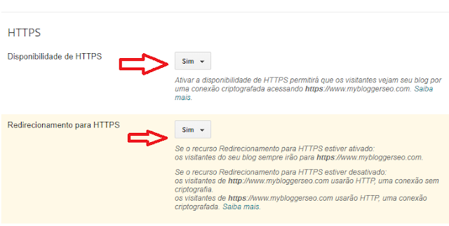 configurando https no blogger