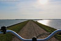 Radtour auf dem Rantumer Damm auf Sylt