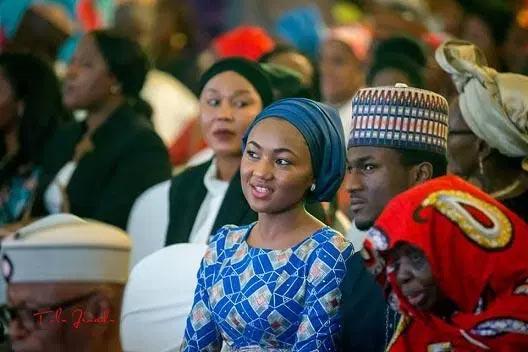 Photos of Aisha, Zahra, Halima and Yusuf Buhari at Abuja event