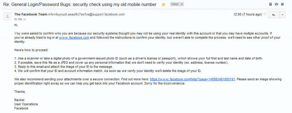 Facebook sending the security code to my old phone number - How can